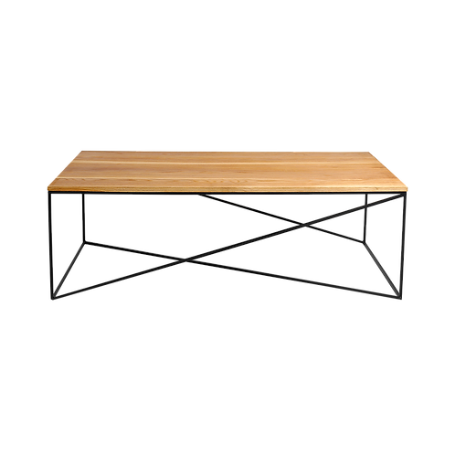 Coffee table MEMO WOOD 140, oak veneer, black