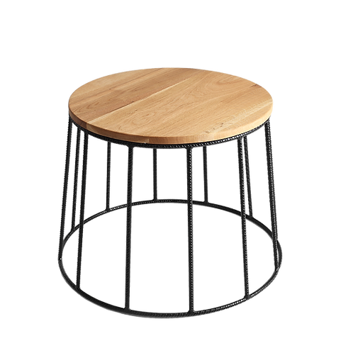 Coffee table FLUN 50 SOLID WOOD, wood, black
