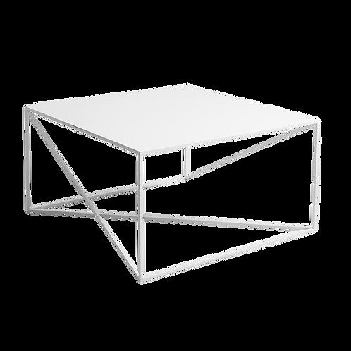 Coffee Table MEMO METAL 80x80, White