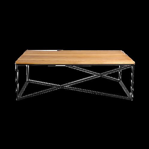 Coffee table MEMO SOLID WOOD 140, wood, black