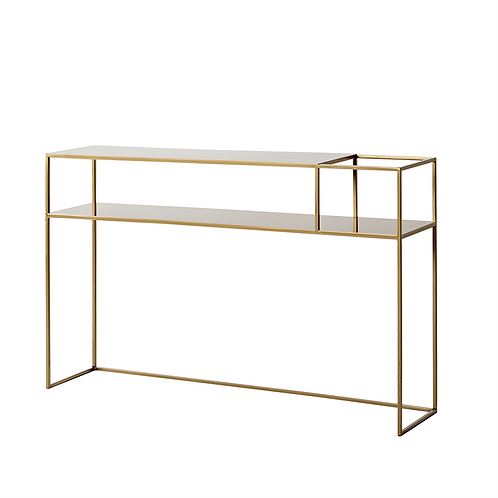 CONSOLE TABLE SENSO FLOWER METAL 120 25P gold