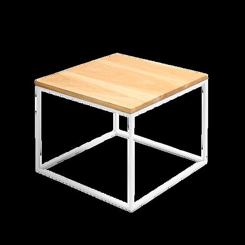 Coffee Table TENSIO 50 SOLID WOOD, oak, white