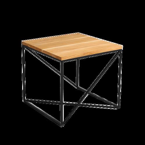 Coffee table MEMO WOOD 50, oak veneer, black