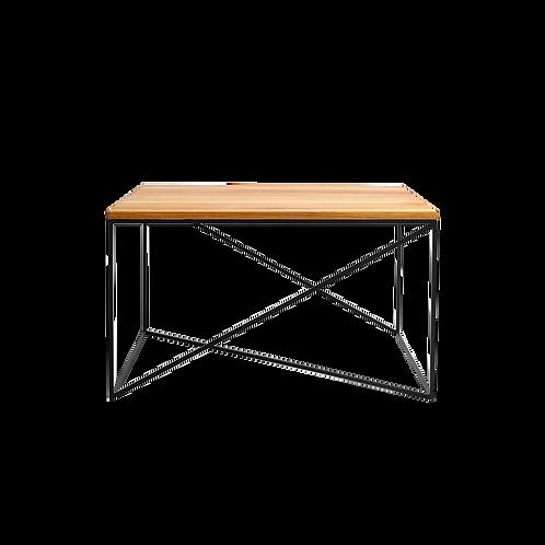 Coffee table MEMO SOLID WOOD 100x100, wood, black