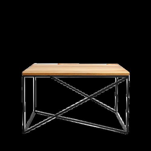Coffee table MEMO WOOD 100x100, oak veneer, black