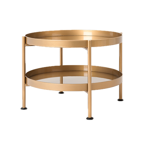 Coffee Table HANNA METAL 60-2F - gold