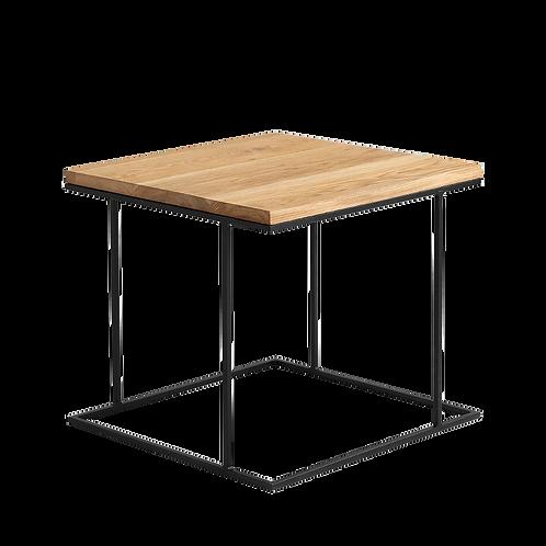 Coffee table WALT SOLID WOOD 50, wood, black