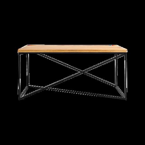 Coffee table MEMO WOOD 100x60, oak veneer, black