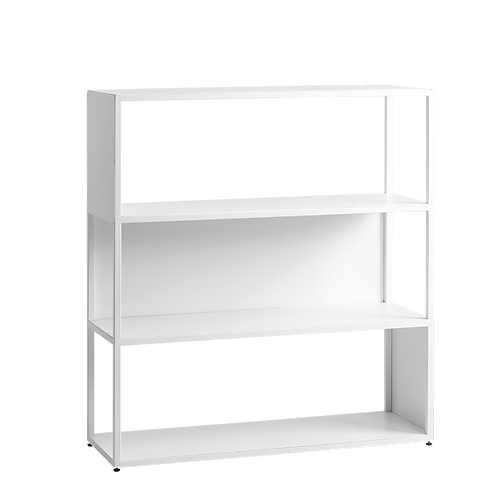 Bookstand HYLLER SIDE METAL 100x110, white