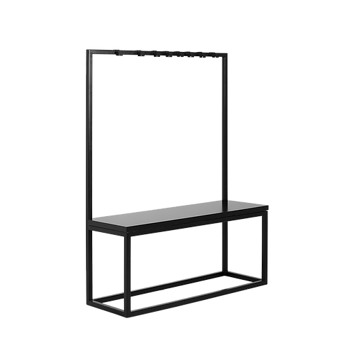 Coat Stand with Bench NEXT 120, Black, Black