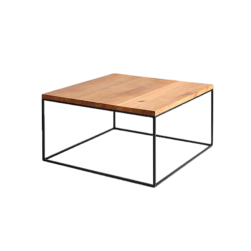 Coffee table TENSIO WOOD 80, oak veneer, black