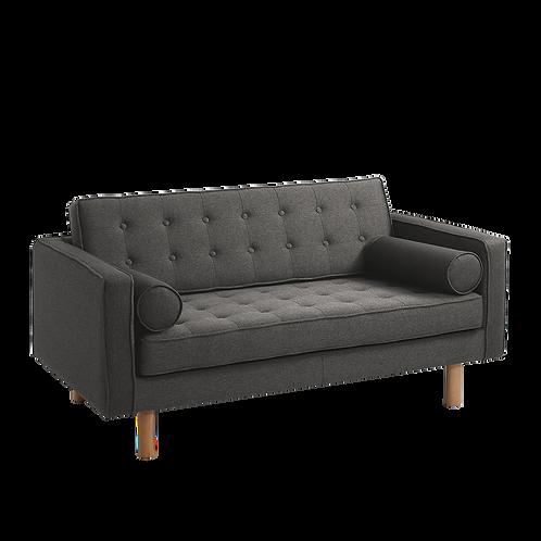 2 Seater Sofa TOPIC WOOD, steel (et91), Natural