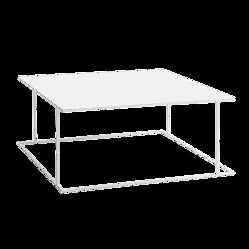 Coffee table WALT METAL 100x100, white