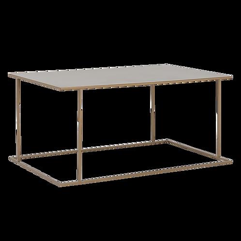 Coffee table WALT METAL 100x100, gold