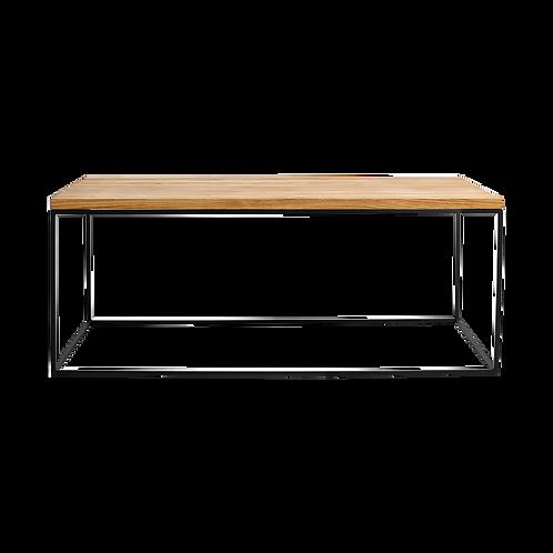 Coffee table TENSIO SOLID WOOD 100x60, wood, black