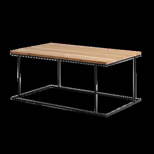 Coffee table MEMO SOLID WOOD 100x60, wood, black