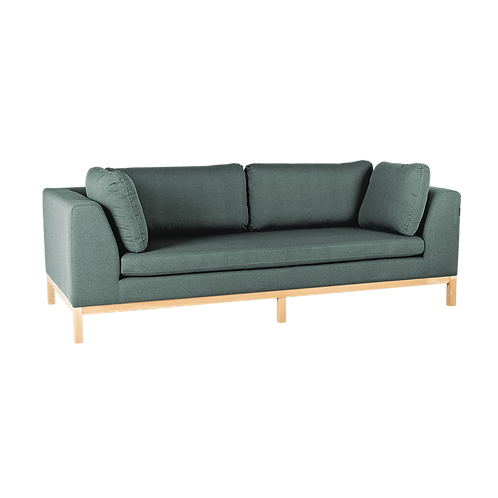 3 Seater Sofa AMBIENT WOOD - malachit(ml72), natural