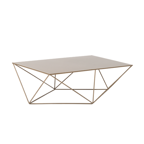Coffee Table DARYL METAL 140, gold