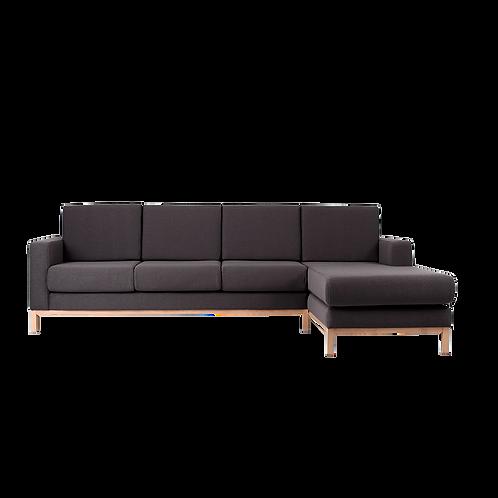 3 Seater Corner Right Sofa SCANDIC , Carbon (et95), Natural