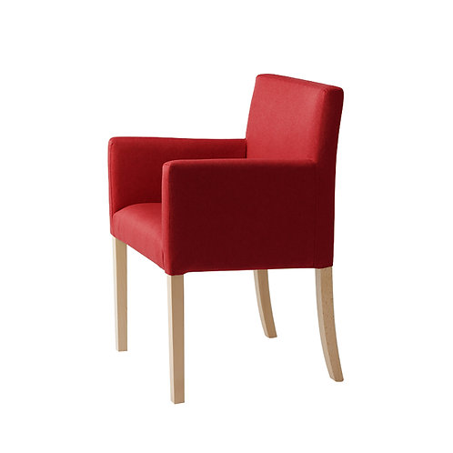 Armchair WILTON ARMS 84, Red (et60), Natural