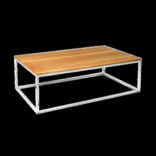 Coffee table TENSIO WOOD 100x60, oak veneer, white