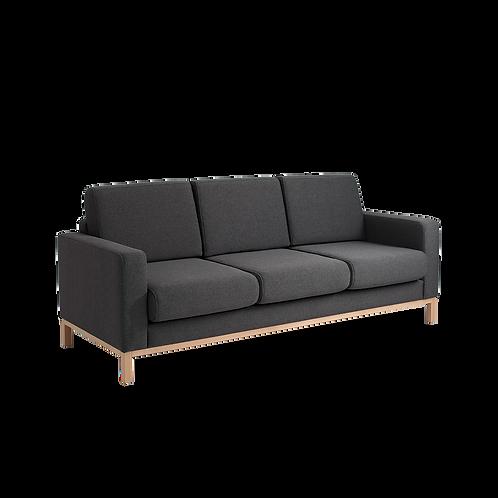 3 Setaer Bed Sofa SCANDIC, Carbon (et95), Natural