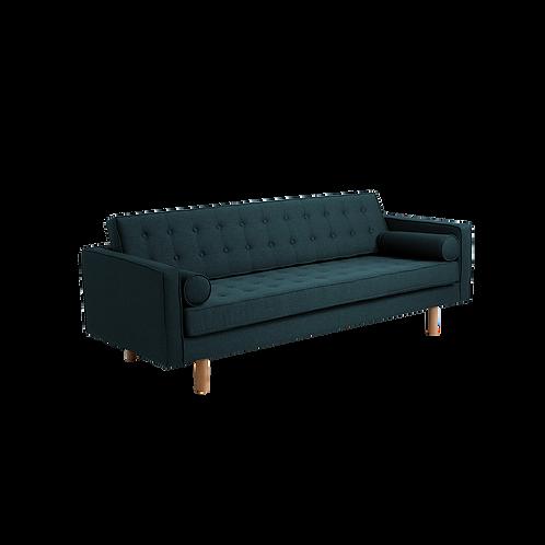 3 Seater Bed Sofa TOPIC WOOD, Deep Sea (et37), Natural