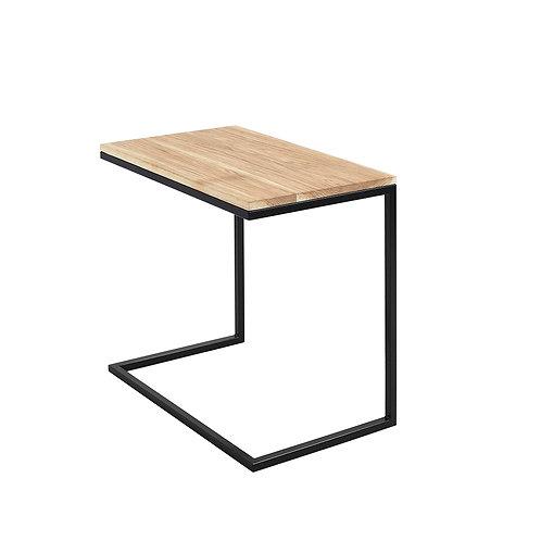 Coffee Table LUPE 60, oak venner, Black
