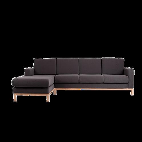 3 Seater Corner Left Sofa SCANDIC, Carbon (et95), Natura