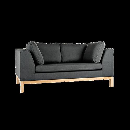 2 Seater Sofa AMBIENT WOOD - bazalt(ml98), natural