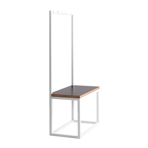 Coat Stand with Bench NEXT 75, White, Black
