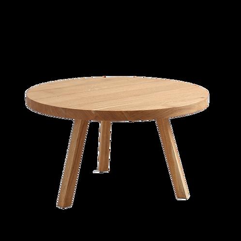 Coffee Table TREBEN ⌀80 SOLID WOOD, Oak