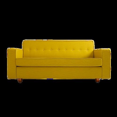 2 Seater Bed Sofa ZUGO, Turmeric (1310), Walnut