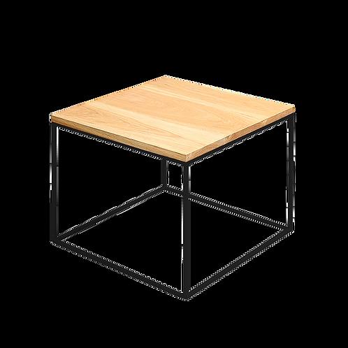 Coffee Table TENSIO 50 SOLID WOOD, oak, black