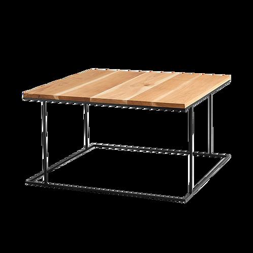 Coffee table WALT SOLID WOOD 80, wood, black