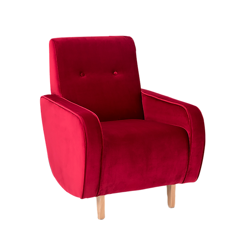 Armchair PANDA -  juicy cranberry, natural