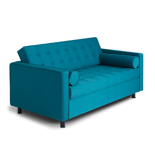 2 Seater Bed Sofa TOPIC, Sea Breeze (et85), Black