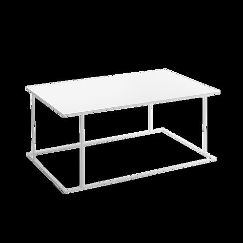 Coffee table WALT METAL 100x60, white