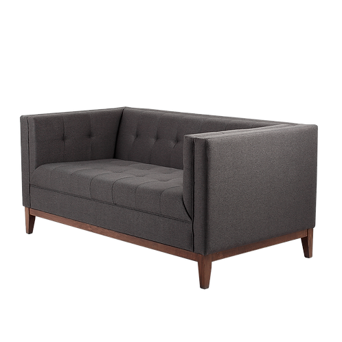 2 Seater Sofa BY TOM, Carbon (et95), Walnut