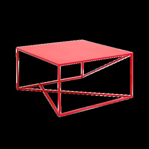 Coffee Table MEMO METAL 80x80, Red