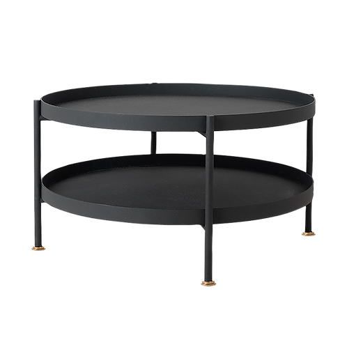 Coffee Table HANNA METAL 80-2F - black