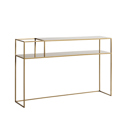 CONSOLE TABLE SENSO FLOWER METAL 120 25L gold