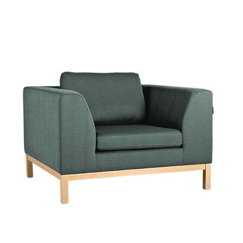 Armchair AMBIENT WOOD - malachit(ml72), natural