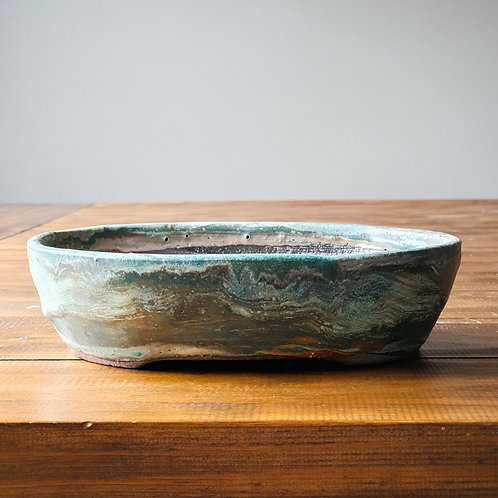 Green Marble, Handmade Pot