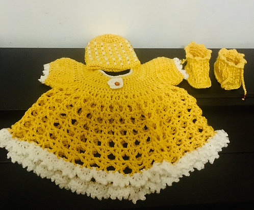 Made To Order Crochet Baby Dress Set