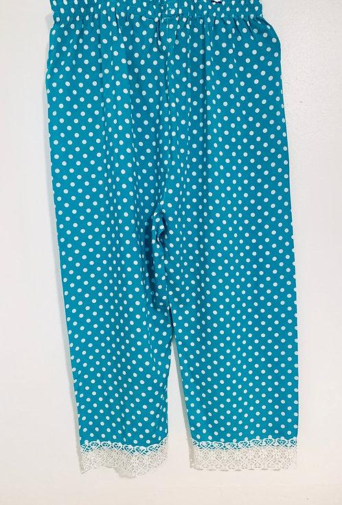 Blue Plazo (Pants)Linen
