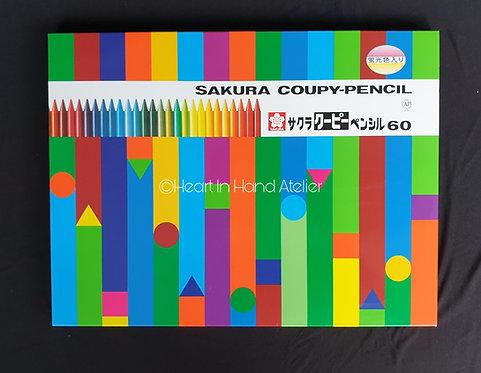 Sakura Coupy Pencil Metal Case 60-Color Set