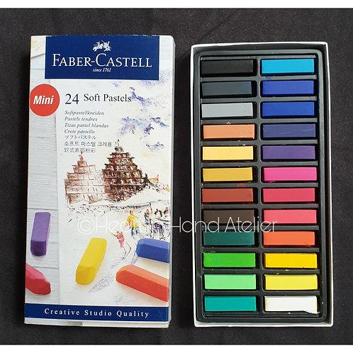 Faber-Castell 24 Mini Soft Pastels (Half Sticks)