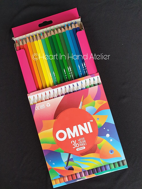 Omni 36 Watercolour Pencils (Intense)