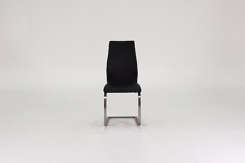 Irma Dining Chair - Brushed Steel Black